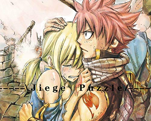 120 Piece Puzzles Fairy-Tail Puzzles for Adults Wooden Puzzles Anime Jigsaw Puzzles 10x8 inch Etherious and Lucy Heartfilia
