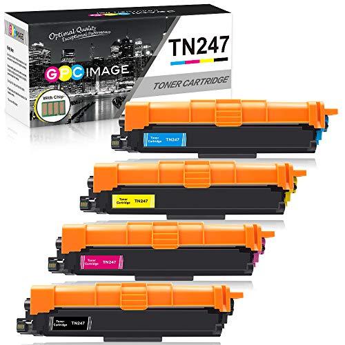 GPC Image TN247 TN243 - Cartucce toner compatibili per Brother TN-247 TN-243 per HL-L3210CW L3270CDW L3230CDW MFC-L3730CDN L3770CDW L3750CDW L3710CW DCP-L3550CDW L3510CDW (confezione da 4 con chip)