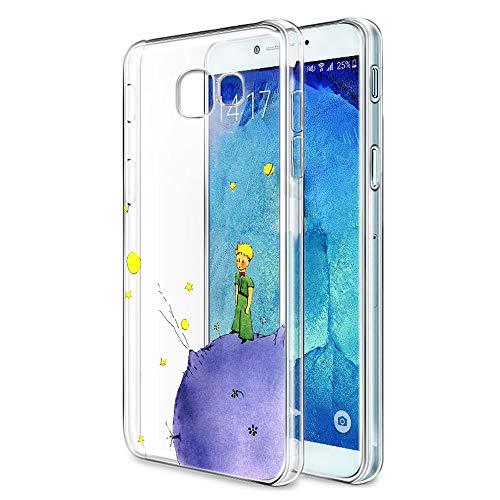 YOEDGE Funda Samsung Galaxy A3 2017 Ultra Slim Cárcasa Silicona Transparente con Dibujos Animados Diseño Patrón [El Principito] Resistente Bumper Case Cover para Samsung Galaxy A3 2017 (Púrpura)