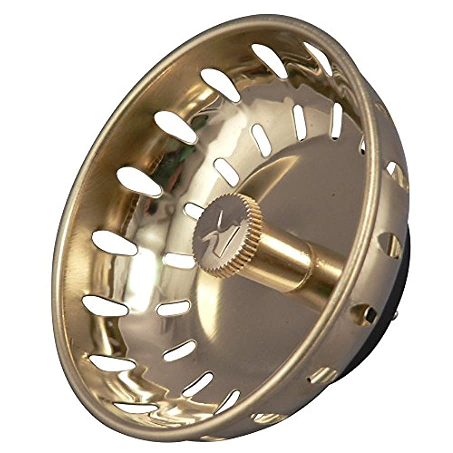 Keeney K820-22DSPB Fixed Post Style Sink Strainer Replacement Basket, Polished Brass