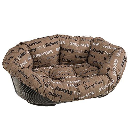 Ferplast 70228999 Haustierkorb für Hunde und Katzen mit Baumwollkissen, Maße: 85 x 62 x 28,5 cm