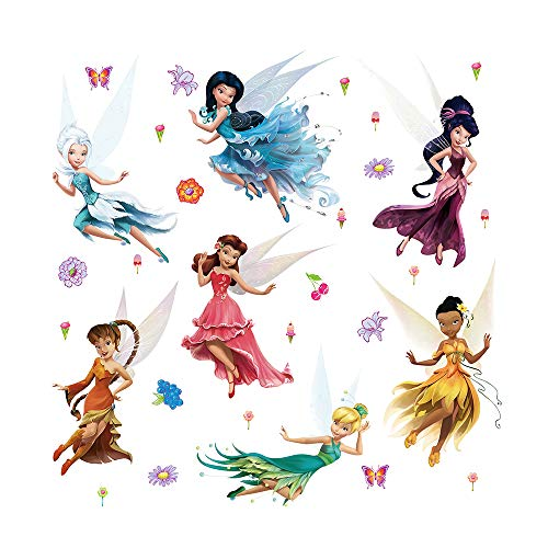 ufengke Pegatinas de Pared Hadas vinilos Adhesivos Pared Flores Mariposas Decorativos para Dormitorio Guardería Habitación Infantiles niñas
