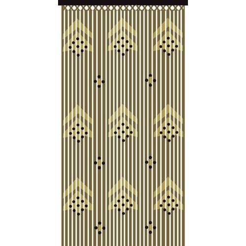 JVL Provence para Flechas Cortina de Cuentas para Puerta de Madera Protector de, Multicolor, 90x 180cm