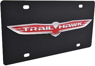 Eurosport Daytona, Inc. Carbon Steel License Plate  Trailhawk Badge