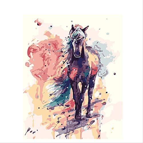 CUNYA Farbe Pferd Tiere DIY Malerei nach Zahlen Kit Moderne Wandkunst Bild Leinwand Malerei handbemalt für Home Decor