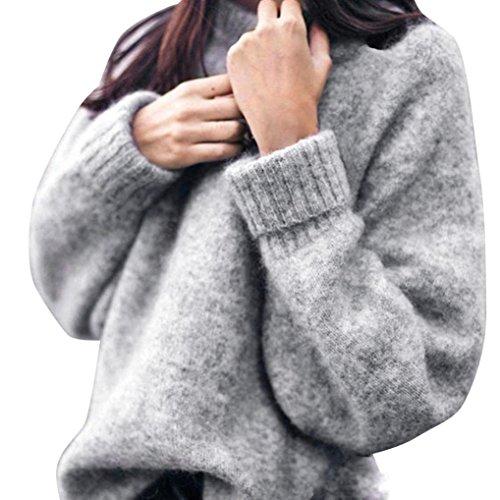 Oyedens 2017 Damen Pullover Damen Langes Hülsen runder Kragen Hülsen Häschen Knit Unterseiten Hemd (S)