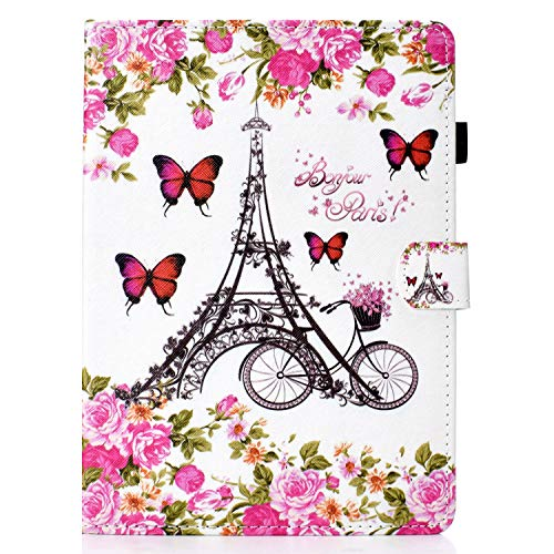 Unichthy Case For iPad Pro 11 2020 & 2018 Cute Patterned Case Shockproof Stand Smart Case Pencil Holder Card Slots Auto Wake/Sleep Cover for 2020/2018 iPad Pro 11 inch Floral Tower