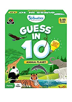 Skillmatics Educational Game : Animal Planet - Guess in 10 (Ages 6-99) | Card Game of Smart Questions | General Knowledge for Kids, Adults and Families | Gifts for Boys and Girls