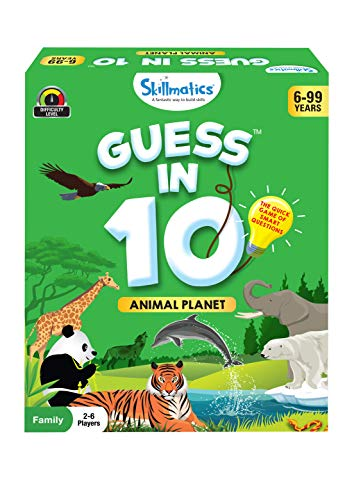 Skillmatics Guess in 10 Animal Planet - Card Game of Smart Questions for Kids & Families | Super Fun for Travel, Family Game Night & Summer Camps | Gifts for All Ages 6-99