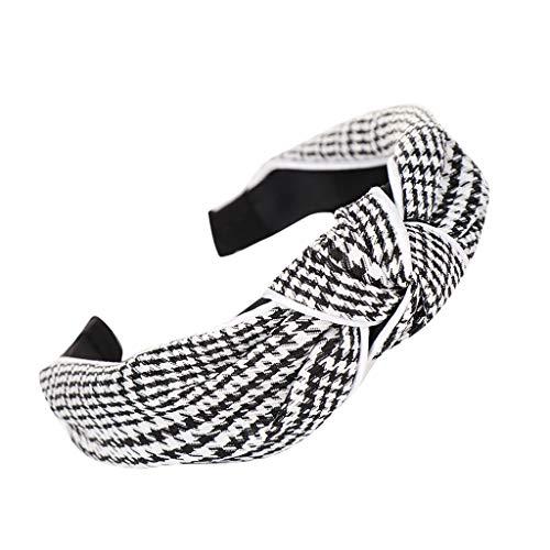 Yvelands Damen Mode Stirnbänder Breit Haarbänder Bogen Knoten Haarband Frauen Haar Kopfband Einfache Süße Mädchen Haar Stirnband Haarschmuck (1PC, Schwarz7)