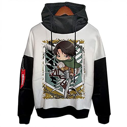 LXLX Sudadera con capucha Attack on Titan con capucha, diseño de anime de Japón, para adolescentes, unisex, moda, ocio, para todo partido, M