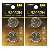 LIR2032 Rechargeable Batteries 3.7V with High...