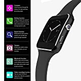 Ainsley Plastic X7U Bluetooth Touchscreen Wrist Smartwatch Phone Fitness Tracker with SIM SD Card Camera Pedometer Compatible iOS iPhone Android for Men Women Boys Girls (Black)