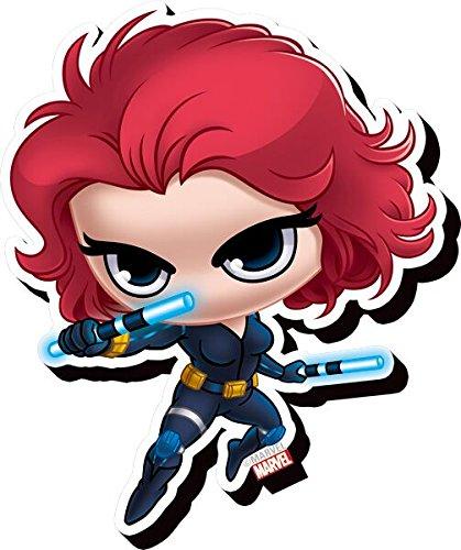 Aquarius Avengers Black Widow Chibi Funky Chunky Magnet,Multi-colored,3'