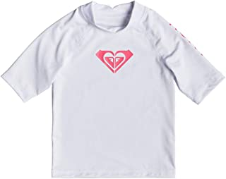 Roxy Girls' Whole Hearted Short Sleeve UPF 50 Rash Vest