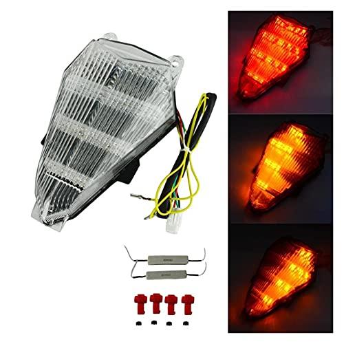 Fpzhong Luz Trasera De La Parte Trasera LED Turn Turn Signalight For Yamaha YZF R6 2006-2013 2007 2009 2010 2011 2012 2012 (Color : Clear)