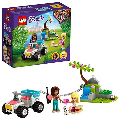 LEGO 41442 Friends Vet Clinic Rescue Buggy Quad Bike Toy for Kids 6+ Years Old, with Stephanie and Andrea Minidolls