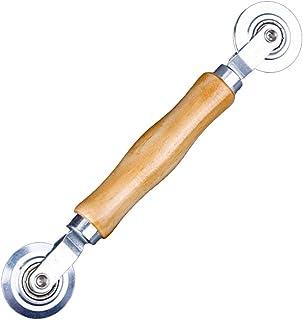 Intrekgereedschap voor intrekker, rubberen koord van aluminiumlegering en houten handvat, dubbel wiel, kederband rubber bi...