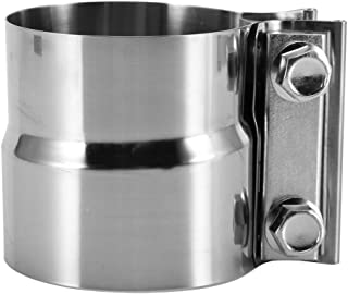 Yctze 3inch Clamp,304 Stainless Steel V-Band Clamp Turbo Exhaust Downpipe Flange Kit with Link Ring