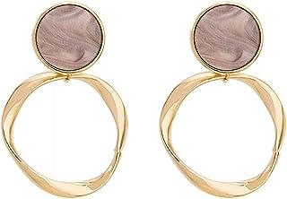 Pendientes Pendientes de anillo geométrico exquisita moda popular clásico temperamento personalidad sim largo
