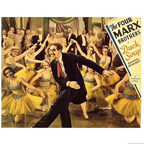 ZNNHEROPóster Vintage Película Película De Los Hermanos Marx Pinturas Clásicas En Lienzo Carteles De Pared Vintage Decoración del Hogar Regalo-50X70 Cm X 1 Sin Marco