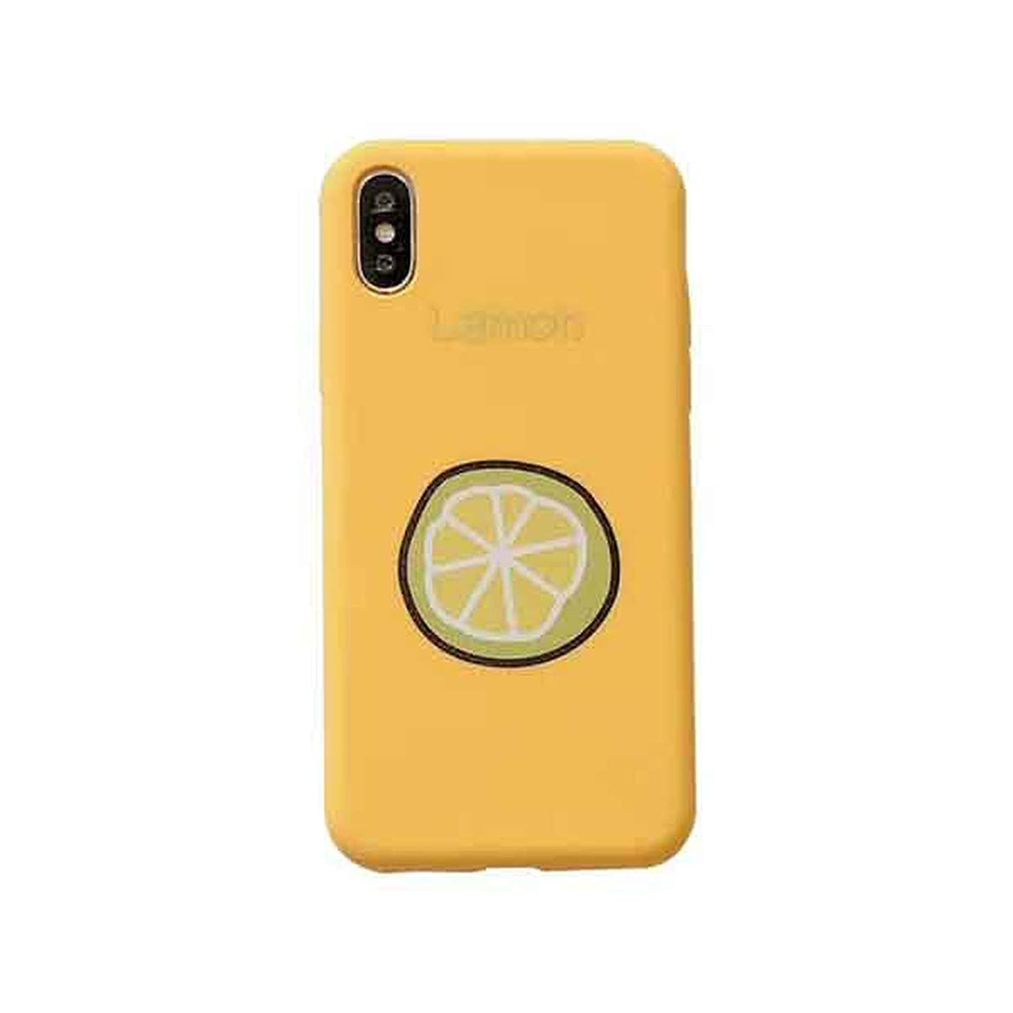 Candy Color Fruit Letters Phone Cases for iPhone Xs Max XR XS X 6 6S 7 8 Plus Soft TPU Phone Back Cover Coque Gifts,Yellow,for iPhone 6 6S