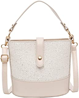 Fashion Women's Bags PU(Polyurethane) Crossbody Bag Solid Color Black/Brown/Khaki (Color : Beige)