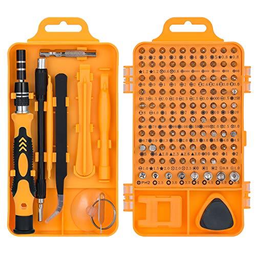 115 in 1 set cacciaviti precisione magnetici professionali, QUIWILL kit cacciavite di riparazione portatile per orologio, ccchiali, iPhone, iPad, smartphone, PC, laptop, tablet, elettronica ecc.