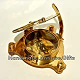 "saif.nautical.store Antique London Brass Sundial Compass Marine Ship Astrolabe Compass Decor 4"""