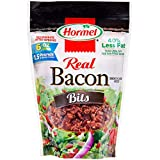Fully cooked,100% real bacon crumbles 40% less fat than USDA data for pan-fried bacon Gluten free Resealable pouch