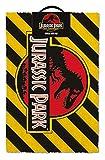 Pyramid International Felpudo Jurassic Park Warning, Fibras de Coco, Multicolor, 40 x 60 cm