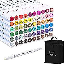 commercial Shuttle Art 61 Alcohol-based color marking, double spring, 60 colors, 1 stand mixer … shuttle art markers 2