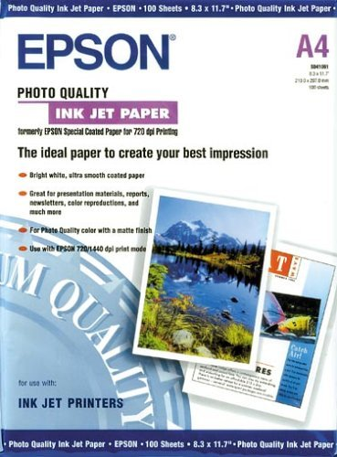 Epson Quality Inkjet Photo Papier Nr. S041061 (A4 / 100 Blatt)