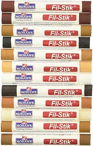 Mohawk Fill Stick (Fil-Stik) Furniture Cabinet Touch Up Putty Wax Filler 12 Pack Multi Kit M230-1250