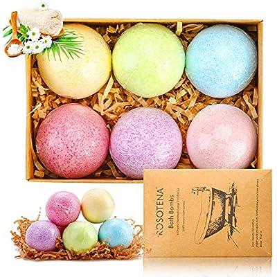 Bath Bombs Gift Set, 6 Pcs Natural Essential Oi...