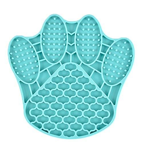 WEFH Alimentador de Perros para Mascotas Tazón de Comida Lenta Plato de alimentación de tapete dispensador en Forma de Garra, Azul