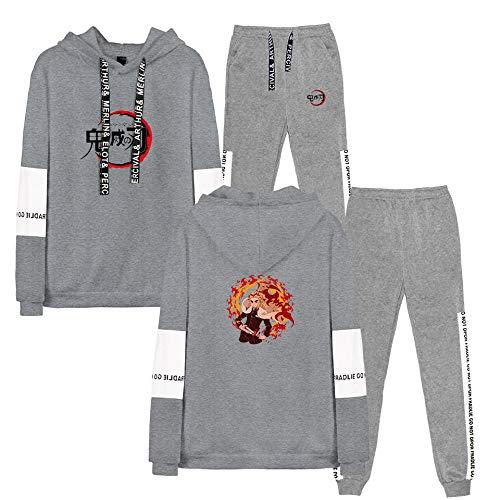 Anzug für Männer Casual Sportanzug Jacke Hosen Pullover Hoodie Demon Slayer 3D Digitaldruck Hoodie Casual Shirt Langarm Pullover XXS-XXL