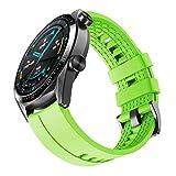 ❤ Qualità premium: il cinturino Huawei Watch GT 2 / Huawei Watch GT Moda / Sport / Attivo / Elegante / Classico è realizzato in silicone morbido di alta qualità, resistente e impermeabile. Le parti metalliche ipoallergeniche sono realizzate in acciai...