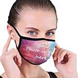 Custom Face Mask with Your Name Text Photo Logo Name for Men Women