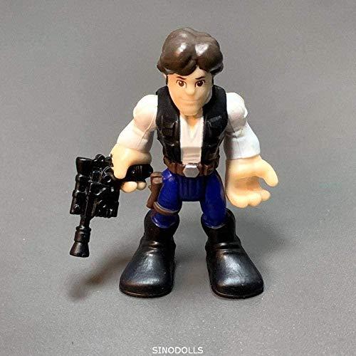 cheaaff Nobranded Playskool Star Wars Galaktische Helden Snow Trooper Actionfigur Skywalker Darth Vader Sturmtruppen Obiwan Yoda Klon Wars Spielzeug 7cm-ST18 Daisy Ridley-St20 Han Solo