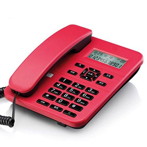 Téléphone Liuyu · Maison de Vie Bureau Ménage Fixe Fixe sans Batterie Hôtel (Color : Red)
