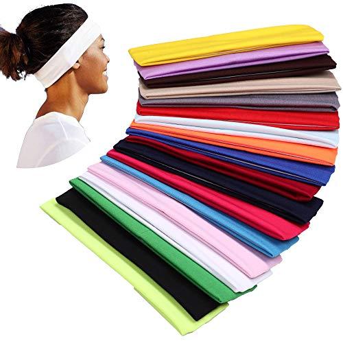YMHPRIDE 18 Stück Sport Yoga Stirnband Stretchy Band Haarband für Mädchen Damen