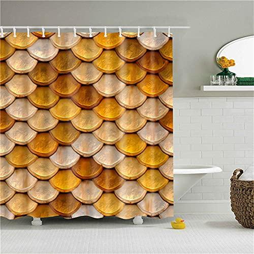 DLSM Pescado Naranja escamosos patrón de Tarjeta de Alta definición Impermeable Antibacterial Moho uppold Book Blow cortina-180x180cm