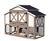 zoovilla Country Style Chicken Coop Metal Nest Box with...