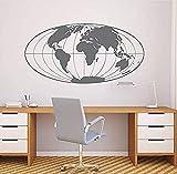 Esquema Mapa Del Mundo Etiqueta De La Pared Mapa Del Mundo Grande Calcomanías De Arte De La Pared Planeta Tierra Pegatinas...