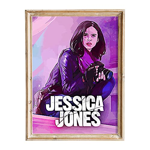 FANART369 Póster de Marvel's Jessica Jones #6 tamaño A3 serie de TV Póster original de fanart arte de pared impresión decoración 29,7 x 42 cm sin bordes
