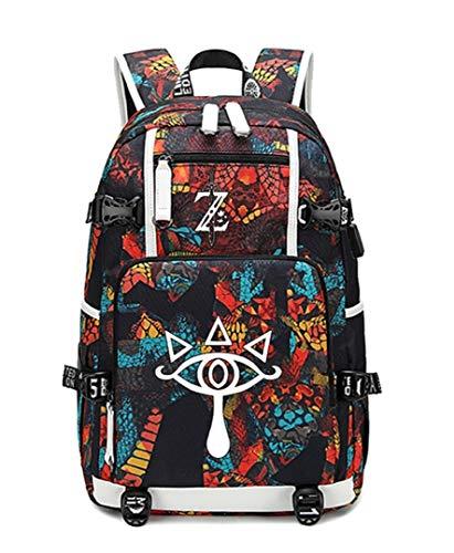 GO2COSY Luminous The Legend of Zelda Rucksack, Tagesrucksack, Studentententasche, Schultasche, Büchertasche, Rucksack mit USB-Ladeanschluss, 4 (Rot) - GO2COSY1