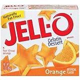 Jell-o, Gelatin Dessert, Orange (Pack of 2)