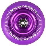 Metal Core Rueda Radical Monocromática para Scooter Freestyle, Diámetro 100 mm (Lila)