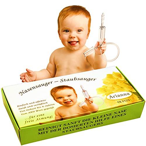 Baby Vac. L'original - Avec 2 têtes aspirantes et une brosse de nettoyage gratuite - Aspirateur nasal testé cliniquement - nezpirateur pour mouche bébé - doux et sans risque pour mouche bebe